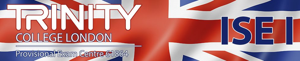London skyline and text reflected with rippled British flag illustration
